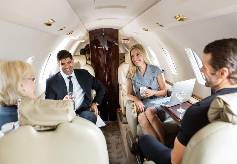Business Professionals Aboard Jet Las Vegas